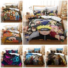 NARUTO0 Kids Bedding Set Duvet Cover Pillowcases Quilt Comforter Cover Gift 3PCS
