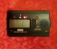 Korg Chromatic Tuner CA-30 Guitar Bass Digital LCD Pitch Calibration,  Works Gr8