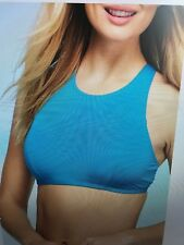 WOMENS NEW DIRECTIONS OMBRE CROCHET CROP BRA TOP -NEW SIZE LARGE $48.00