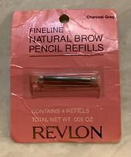 Revlon Fineline Natural Pencil Refills/ 4 refills in pack.Charcoal Grey .005 oz.