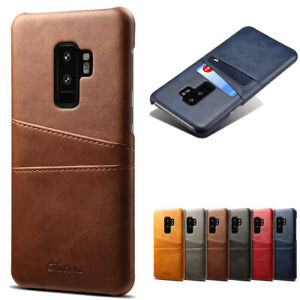 Dooqi Leather Wallet Card Slot Back Cover Case For Samsung Galaxy S9 / S9 Plus