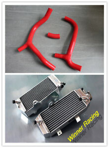 40mm radiator +red silicone hose for Honda CRF450R CRF 450 R 2009-2012 2010