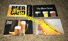 THE BEER STORE GIFT CARD LOT OF 4 NO VALUE COLLECTIBLE NEW
