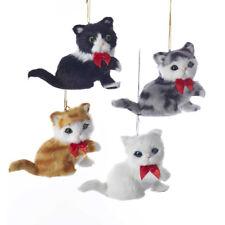 Furry Sitting Cat Ornament