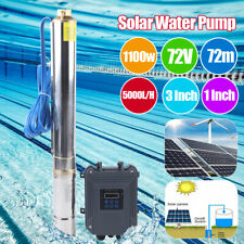 3 Dc Deep Bore Well Solar Water Pump 72v Submersible Mppt Controller Kit 1100w