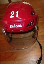 PHOENIX COYOTES Andy Miele game-worn #21 red Reebok helmet (2011-2014 seasons)