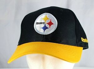 Pittsburgh Steelers Black/Yellow NFL Baseball Cap Adjustable