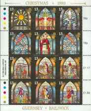 Timbres Religion Noel Arts Vitraux Guernesey 630/41 ** (39178Y)