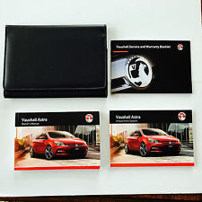 VAUXHALL ASTRA OWNERS MANUAL HANDBOOK PACK + NEW BLANK SERVICE BOOK 2012-2016