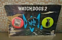 Watch Dogs 2 Dawn of Dedsec 2016 Ubisoft Button Pin Set of 3 Sealed NIP