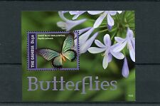 Gambia 2014 MNH Butterflies II 1v S/S Insects Giant Blue Swallowtail