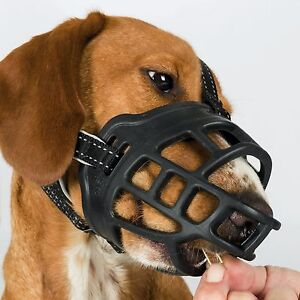 Trixie Flex Deluxe Comfortable Dog Muzzles Allows Panting Treats Drinking Muzzle