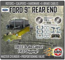 "Ford 9"" Rear Disc Brake Conversion Kit Complete W/ Disc Disc Master & Prop Valve"