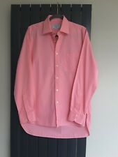 Charles Tyrwhitt Pink Long Sleeve Mens Dress Shirt 15.5 Collar