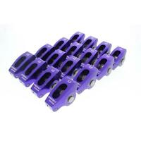 Speedway SBC Camshaft Break-In Roller Rocker Arms, 1.3:1, 3/8 Stud
