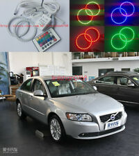 2x Excellent RGB Multi-Color Angel Eyes Halo Rings For Volvo S40 V50 2004 - 2007