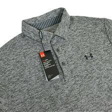 Under Armour UA Mens Large Playoff Polo $64.99 Short Sleeve Shirt Grey Heatgear