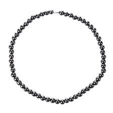 Women Men Dark Grey Round Hematite Beads Magnetic NeckLace N2D5