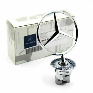 Front Hood Ornament Mounted Star Logo Symbol Emblem For Mercedes-Benz