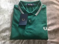 Fred Perry Twin Tipped Men's Polo T-Shirt Raf Green Size Large Brand New