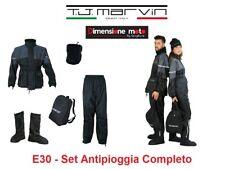 """E030 - Set Antipioggia """"T.J. Marvin"""" Giacca + Pantalone + Copristivali Taglia M"""