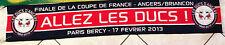 ECHARPE HOCKEY FINALE COUPE DE FRANCE BERCY 2013 LES DUCS D'ANGERS - BRIANCON