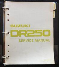 1982 1983 Suzuki DR250 SP250 SP250Z Moto de Cross Reparación Manual Muy Bueno