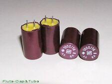 4pcs NOS  ROE EK 1000uF 16V  Hi-Fi Audio Bakelite vintage capacitors.