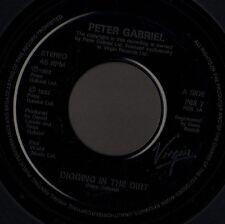 """PETER GABRIEL digging in the dirt 7"""" WS EX/ promo jukebox uk virgin PGS 7"""