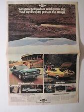 1974 Chevorlet Cars Pull Out Color Ad!  Monte Carlo, Nova, Camaro, Vega, Caprice