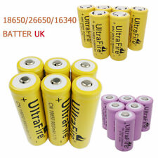 18650 16340 26650 3.7V Batería Li-ion Recargable Linterna de baja baterías de drenaje Reino Unido