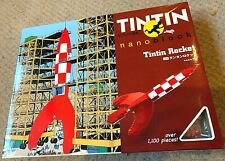 X Rare KAWADA Nanoblock Tintin Rocket 1100 pcs 2011 4972825142035 Fusee Herge
