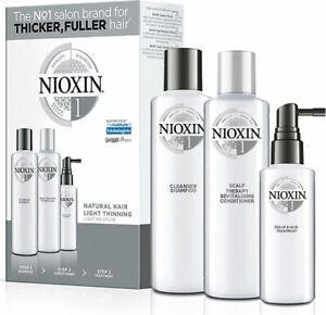 NIOXIN System Full Size Kit Sham300ml/150 Cond 300ml/150 Treatment 100/40ml