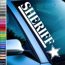 Auto Aufkleber SHERIF Sticker Frontscheibe Tuningaufkleber 26 Farben F80