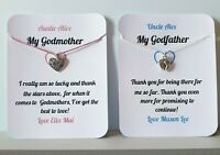 Thank you for being my Godmother, Godfather, Godparent Personalised Card