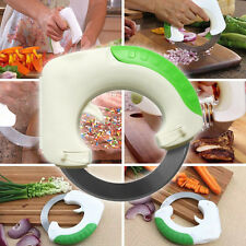 Rolling Circular Pizza Wheel Cutter Vegetable Slicer Kitchen Tool New SAFE