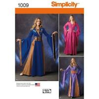 Simplicity Sewing Pattern 1009 Misses Ladies Fantasy Costumes Size 14-22 Uncut