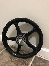"Vintage NOS Black 16"" Mag-Lite BMX Freestyle Rear Wheel-Pit-Shimano Coaster"