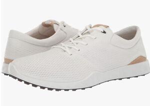 Ecco Golf S-Lite Golf Shoes White Tan Mens SZ ( 151904-01007 )