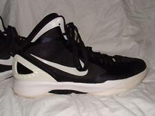 NICE USED NIKE ZOOM HYPERDUNK FLYWIRE HIGH TOPS SZ 14 BLACK & WHITE~FREE US SHIP