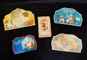 Vintage Needle Books Our Pals, Sweetheart, Tea, Home Needle Case, Advertising