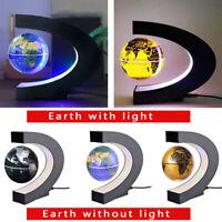 Hot Magnetic Levitation Floating Globe LED Light World Map Rotate Planet Earth C