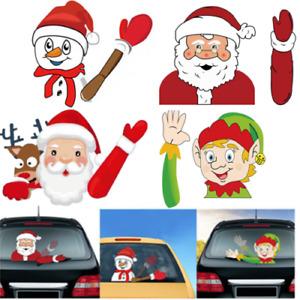 Elf Santa Waving Car Sticker Windscreen Wiper Blade Christmas Xmas Novelty Decor