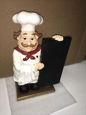 Italian Chef With Mustache & Chalkboard 15-1/2� H 8-5/8� W Kitchen Decor