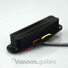 NEW Vanson Hot Rail Humbucker, Single Coil Size Pickup for Strat®* guitars BK/BK