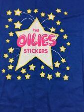 Vintage Anvil T Shirt The Oilies Stickers Size Xlarge Blue