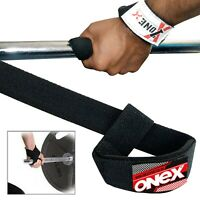Padded Weight Lifting Training Gym Straps Hand Bar Wrist Support Deadlift  Wraps