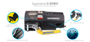 5000lb (2.5Tons) Recovery Winch Superwinch S5000 24v Steel Rope