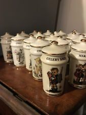 20 - M. J. Hummel Spice Canisters