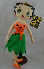 """Betty Boop Plush With Tags and Stand Halloween Pumpkin Betty 15 1/2"""""""